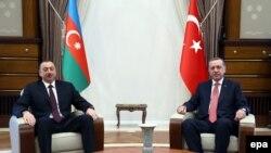 Ilham Aliyev və Recep Tayyip Erdogan
