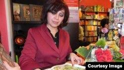 Azeri child writer Reyhan Yusifgizi (Reyhan Yusifqızı Şıxlınskaya)