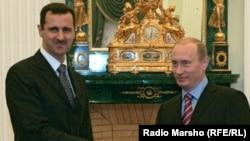 Сирия президенті Башар Асад (сол жақта) және Ресей президенті Владимир Путин.