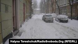 Під час заметілі у Львові, фото 15 березея 2013 року
