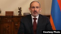 Armenian Prime Minister Nikol Pashinian during an interview on BBC World News' HARDtalk program