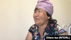 Жупар Есмагамбетова, вдова погибшего в Арыси в день взрывов Панабека Есмагамбетова, в Туркестанской областной больнице. Шымкент, 4 июля 2019 года.