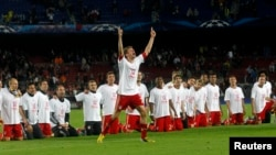 """Бавария"" празднует победу. 2 мая 2013, Барселона"