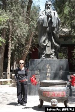 La templul Confucius la Wuwei