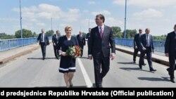 Kolinda Grabar Kitarović i Aleksandar Vučić, susret na Dunavu, 20. jun 2016.