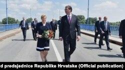 Dani obećanja: Predsednica Hrvatske Kolinda Grabar-Kitarović i premijer Srbije Aleksandar Vučić