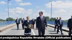 Predsjednica Hrvatske Kolinda Grabar Kitarović i premijer tehničke Vlade Srbije Aleksandar Vučić