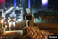 Перекрытый мост через Босфор