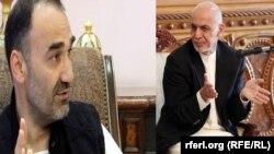 """آرشیف عطا محمد نور """"چپ"""" با اشرف غنی """"راست"""""""