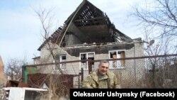 Олександр Ушинський на позиції у зоні бойових дій