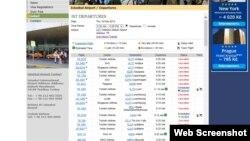 Таблои парвозҳои фурудгоҳи Отатурк. 19 феврал