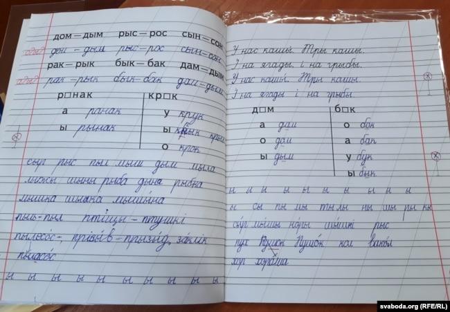 Пісаць па-беларуску школьніц амаль навучылі
