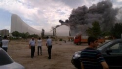 Пожар в Центре Гейдара Алиева