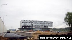 Part of a lavish business school campus under construction at Skolkovo