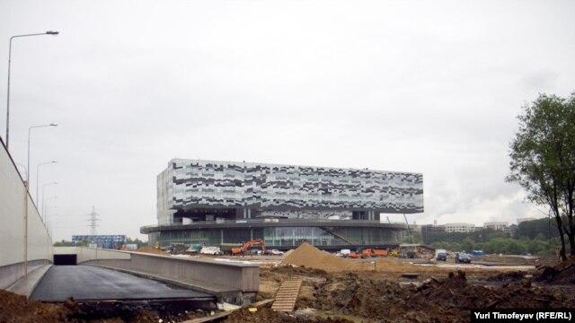 Part of a lavish business school campus under construction at Skolkovo