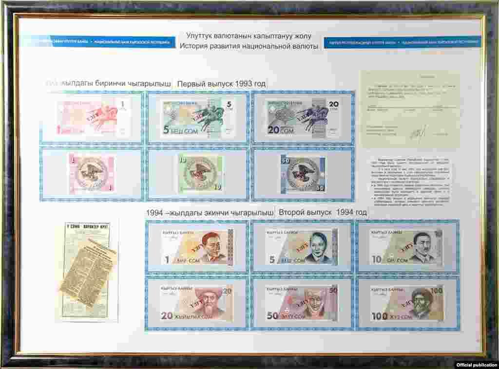 С 2008 года в Кыргызстане ввели монеты номиналом 1, 10, 50 тыйынов, а также 1, 3, 5 и 10 сомов.