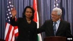 خانم رايس در ديدارهای خود، خواستار گسترش آتش بس موجود بين اسراييل و فلسطينی ها می شود.
