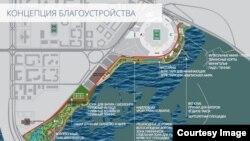 Казан-Арена янындагы яр буен төзекләндерү планы