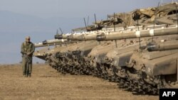 Tanks and other armored combat vehicles are included in the UN weapons treaty. (file photo)
