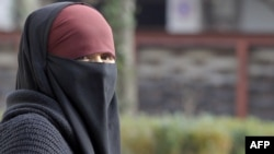 A woman wearing a niqab, the islamic full veil, in the French city of Lyon. (file photo)