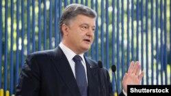 Президент Украины Пётр Порошенко во время пресс-конфренции в Киеве. 5 июня 2015 года.