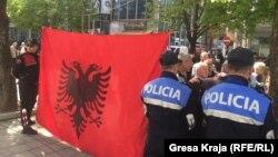 Pamje të protestave më 3 prill në Tiranë, ilustrim.