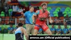 Brazil -- Armenian wrestler Artur Aleksanian, 16Aug2016