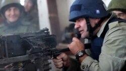 Михаил Пореченков на огневой позиции