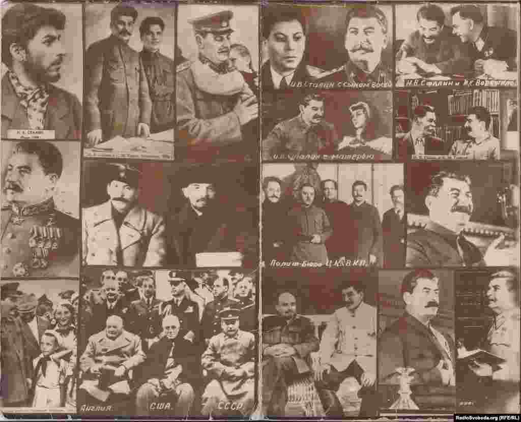 Images of Stalin from a Soviet calendar published in 1980.