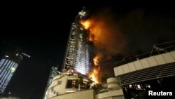 Fire at Dubai hotel