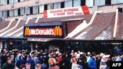 """Первый московский ресторан """"Макдоналдс"""", 31 января 1990 года"""