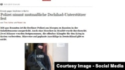Германи - Терроран дуьхьал бечу балхах лаьцна керланаш ду интернетехь даржош.