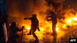 Киевтегі қақтығыс. 22 қаңтар 2014 жыл.