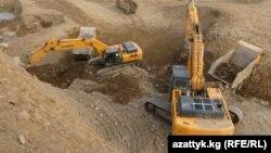 Золоторудное месторождение Иштамберди в Джалал-Абадской области. Архивное фото.