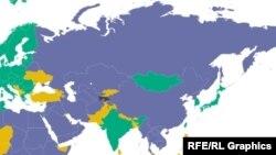 در آسیای شرقی در سال ۲۰۱۲ یک میلیون و هفتصد هزار مورد سرطان و یک میلیون واقعه مرگ ثبت شدهاست.