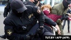 Задержание участников акции протеста в Минске
