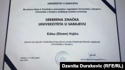 Diploma Edisa Vojića, 2016.