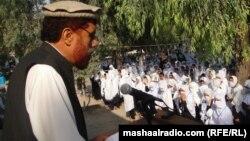 Мектепте өткен Малала Юсафзайға қолдау білдіру шарасы. Жалал-Абад, Нангархар провинциясы, Ауғанстан. 13 қазан 2012 ж.