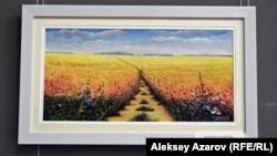 «Васильки» — один из пейзажей Карипбека Куюкова.