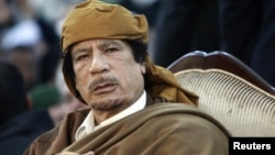 Свергнутый ливийский лидер Муаммар Каддафи. Триполи, 13 февраля 2011 года.