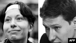 "Slain human-rights lawyer Stanislav Markelov (right) and ""Novaya Gazeta"" reporter Anastasia Baburova"