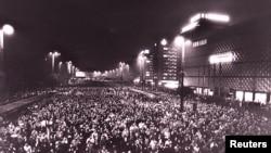 Лейпциг шаарындагы демонстрациялар. 1989-жыл.