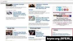Опитування на сайті «Кримської правди»