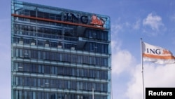 The headquarters of the ING financial group in Amsterdam (file photo)
