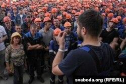 Одразу після виборів під час активних протестів робітники «Гродно-Азоту» страйкували, але лише кілька днів. Мітинг на підприємстві «Гродно-Азот» 19 серпня 2020 року (через 10 днів після президентських виборів)