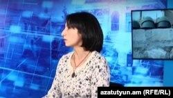 Правозащитница Заруи Ованнисян в студии Радио Азатутюн (архив)
