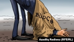 The final version of the budget of Azerbaijan. Cartoon. Gunduz Aghayev