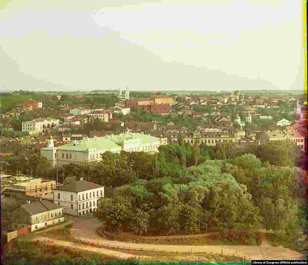Віцебск, агульны выгляд паўднёвай часткі горада.