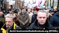 Міхеїл Саакашвілі на акції в Києві 3 грудня 2017 року