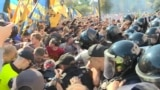 GRAB-Scuffles Outside Ukrainian Parliament